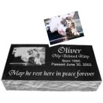 Cat Memorials - 6 inch Sloped Cat Memorials
