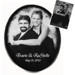 Engraved Wedding Gifts - Oval Engraved Wedding Gifts