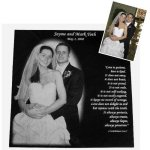 Engraved Wedding Gifts - Square Engraved Wedding Gifts