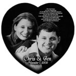 Engraved Wedding Gifts - Heart Engraved Wedding Gifts