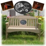 Memorial Bench with Engraved Granite Plaque Memorial Benches