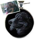 Pet Memorial Gifts - Black Onyx Necklace Pet Memorial Gifts