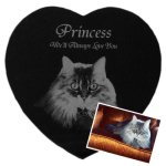 Pet Memorial Plaques - Heart Pet Memorial Plaques