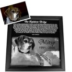 Pet Memorial Plaques - Framed Pet Memorial Plaques
